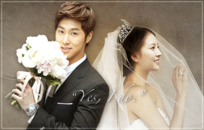 Jung Yunho and Kwon BoA  - - -  First of all, I did not make the BoA bride picture. I got it randomly on Twitter. I merely combined Yunho and BoA's picture together and played with the texture a little bit and stuff to come up with this output. Next time, I'll work on a better picture. This is just a spur of the moment thingy and I wasn't really thinking while editing it (heck, I was just using the trackpad of my laptop!). HAHA! I just needed an outlet to release all these YunBoA feels that's why. Maybe through this, I may be able to write a new fic as well. HAHA! Oh well, towel. Get married soon, okay! Kekekeke <3