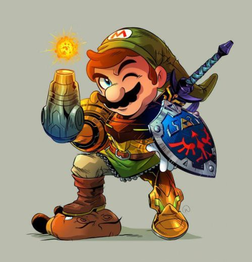 galaxynextdoor:  Nintendo mash-up by Will Overton