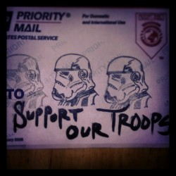 What do you think?  #Supportourtroops #artivism #sticker
