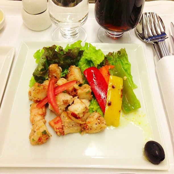 #Prawn #Fish #Salad - #flight #travel #food