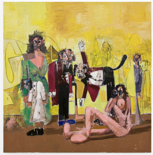 iheartmyart:  George Condo, The Concierge and his Family, 2009-10, 198.12 x 193.04 cm Exhibition at Sprueth Magers, April 27th - June 22, 2013