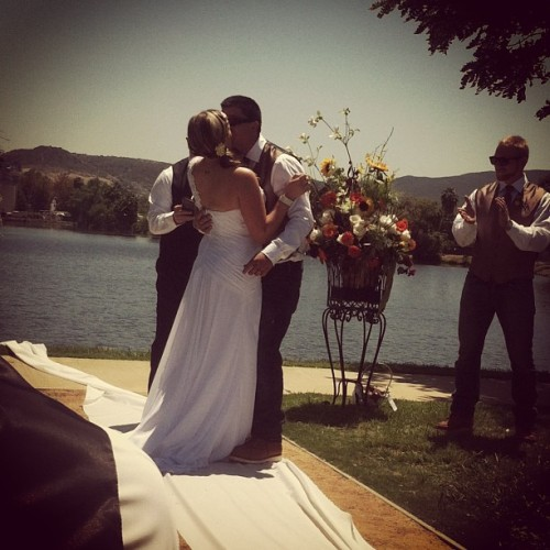 Congratulations Krista and Jesse :) ❤ (at Santee Lakes)