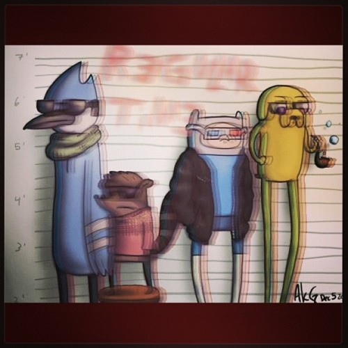 broskitlove:  #RegularShow & #AdventureTime Love These Shows Lolz  Finally, classic shows that match the 90's