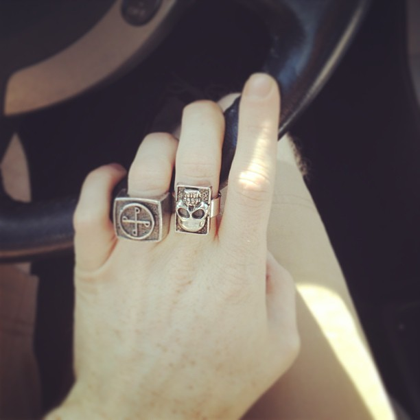Embracing my inner old Italian man with my double rings. #ThePhantom #TheRingOfGood #TheGhostWhoWalks