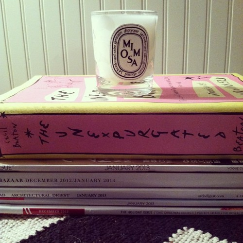 theglitterguide:  New mini @diptyque candle.