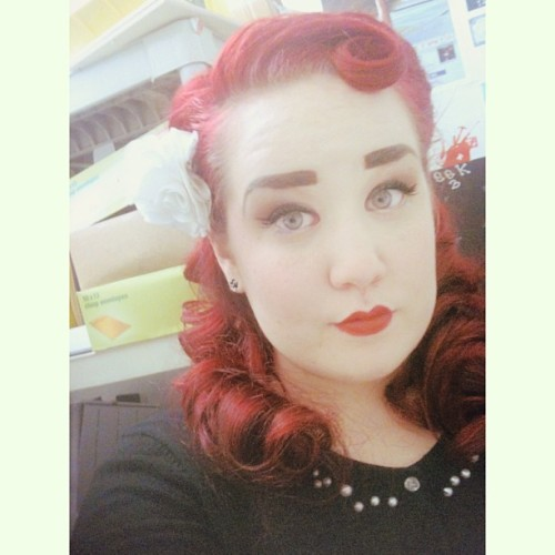So yeah I got a haircut. #personal #red #pinup #hair