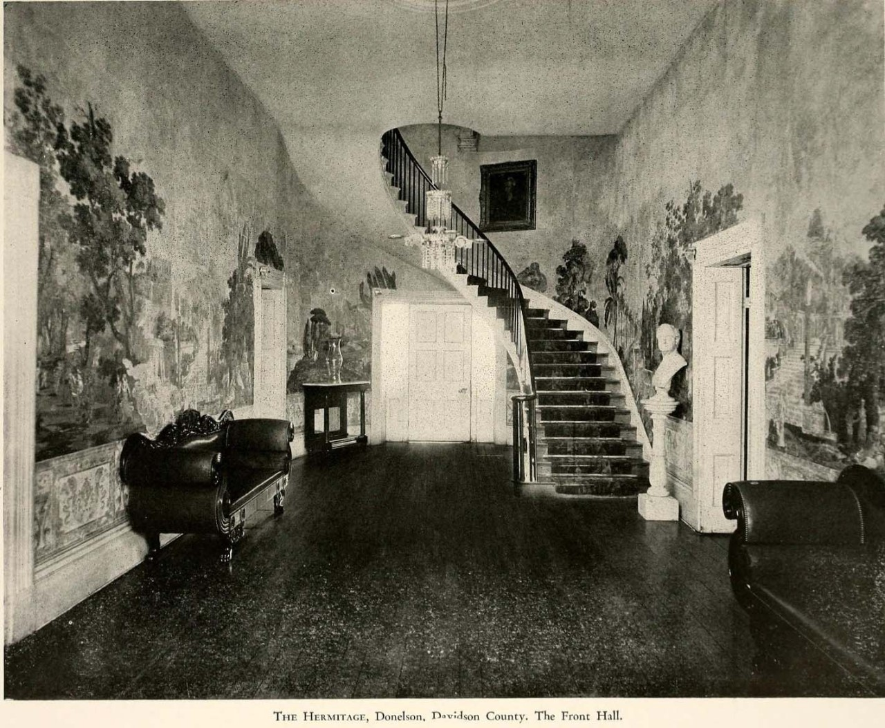 archimaps:  Inside the Front Hall at the Hermitage, Donelson