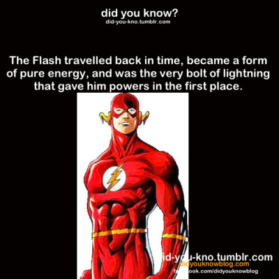 eternally-melancholy:  did-you-kno:  Source  the flash by far the best superhero, among with green arrow ;)