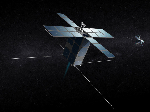 "Laptop-sized asteroid prospectors set to launch in 2015 could be first step in colonizing MarsThe first step to mining our solar system's asteroids — and setting up permanent bases on Mars — could be the launch of two box-sized ""FireFly"" space probes by exploration company Deep Space Industries (DSI).""This is the first commercial campaign to explore the small asteroids that pass by Earth,"" Deep Space Industries Chairman Rick Tumlinson said in a Tuesday release.The two FireFly space craft are planned to launch in 2015 on missions that will range from two to six months. The craft are just 25 kilograms (about 56 lbs) and Tumlinson says that they would have been impossible just a few years ago.""My smartphone has more computing power than they had on the Apollo moon missions,"" said Tumlinson. ""We can make amazing machines smaller, cheaper, and faster than ever before. Imagine a production line of FireFlies, cocked and loaded and ready to fly out to examine any object that gets near the Earth."" (Deep Space Industries/Bryan Versteeg)"