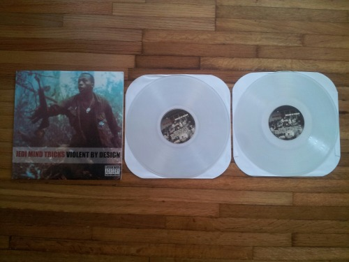 rocket-grunt-daniel:  JEDI MIND TRICKS: VIOLENT BY DESIGN [Limited Edition Clear Double Disk Vinyl] Hands down my favorite Rap Album! Stoked beyond belief on this!!