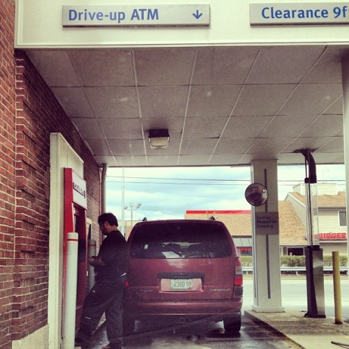 It's a drive through. Why do people always do this? (at Bank of America)