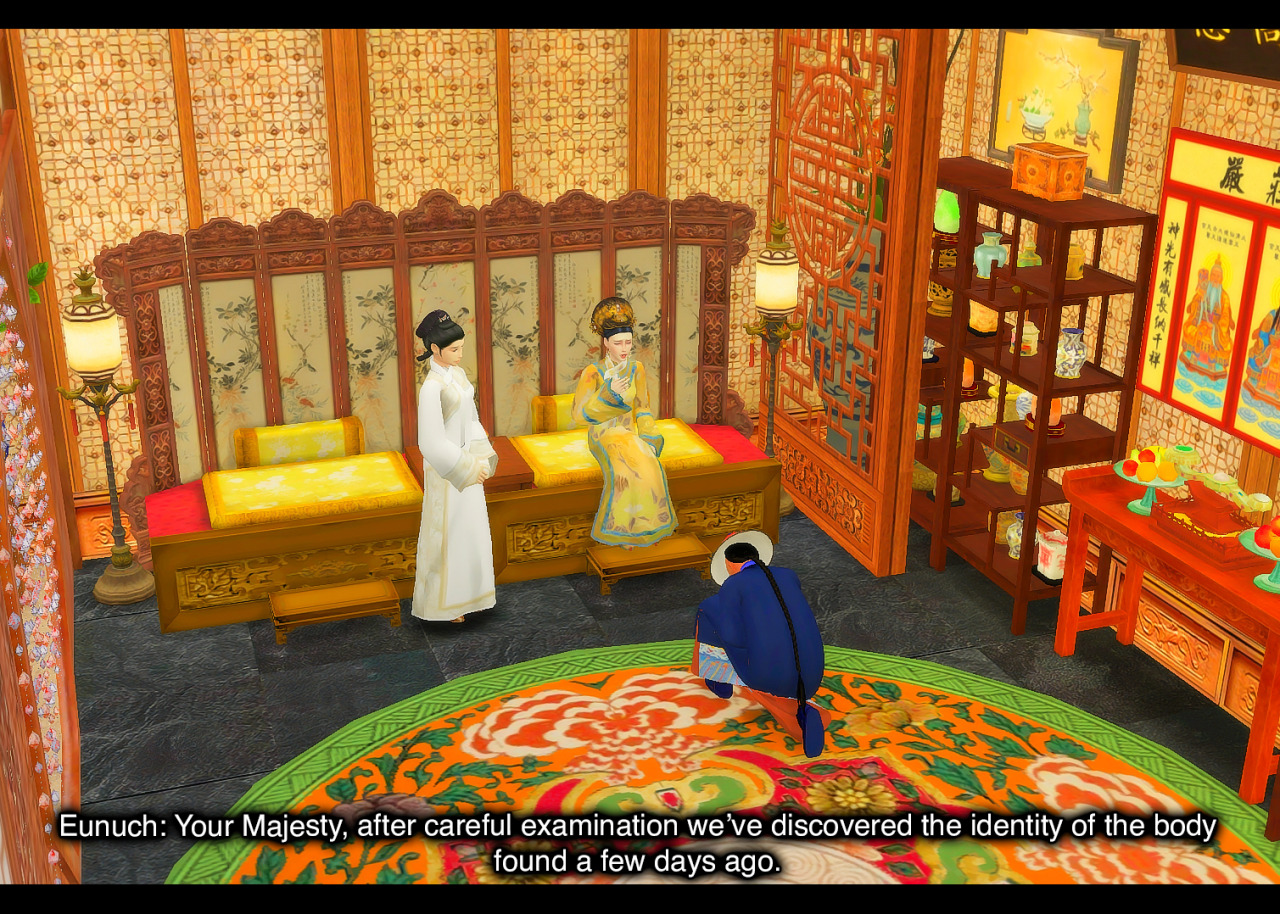 11:46am -  Palace of Great Benevolence, The Divine CityPrevious   Beginning (Shang Simla)   NextHierarchy     Beginning of entire story #ts4#ts4 story#ts4 storytelling#ts4 royalty#royal family#ts4 screenshots#reigningsimsstory#reigningsims