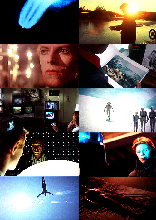 "folderolandmarginalia:  Movies I Love || The Man Who Fell to Earth (1976)  ""In Breughel's Icarus, for instance: how everything turns away  Quite leisurely from the disaster; the ploughman may  Have heard the splash, the forsaken cry,  But for him it was not an important failure; the sun shone  As it had to on the white legs disappearing into the green  Water; and the expensive delicate ship that must have seen  Something amazing, a boy falling out of the sky,  had somewhere to get to and sailed calmly on."" W.H. Auden"