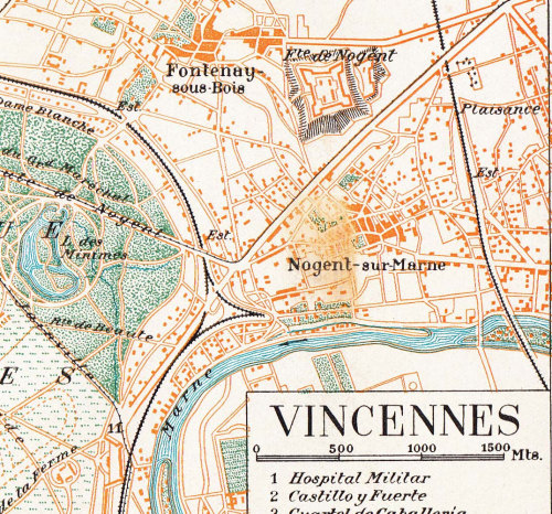 Vicennes Vintage City Plan  Street Map 1920s France at CarambasVintage http://etsy.me/12lk2cg