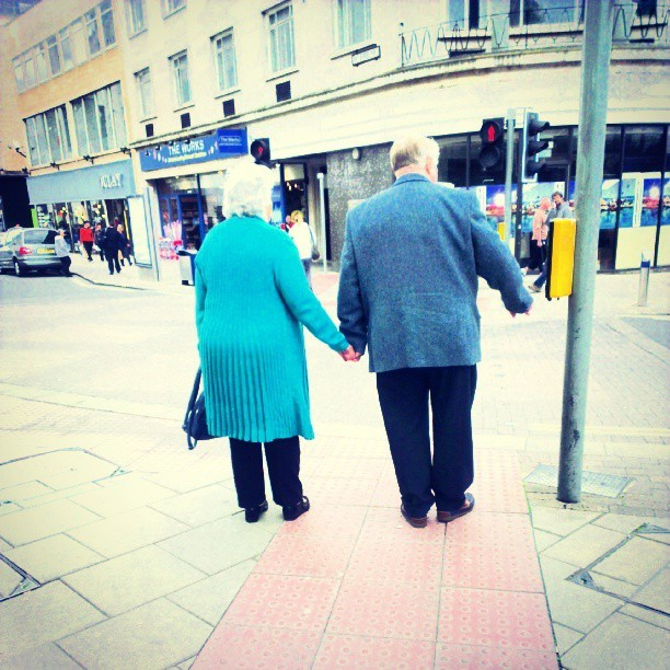 This is how it should be. #love, #oldlove, #bestfriends, #spouses, #married, #forever, #holdinghands, #support,#webstagram, #instadaily, #instagood , #friendship, #marriedlife, #couple