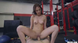 IKnowThatGirl   Aubrey Rose  Doggystyle Fuck On Gym Bike  01 12 17 720p mp4