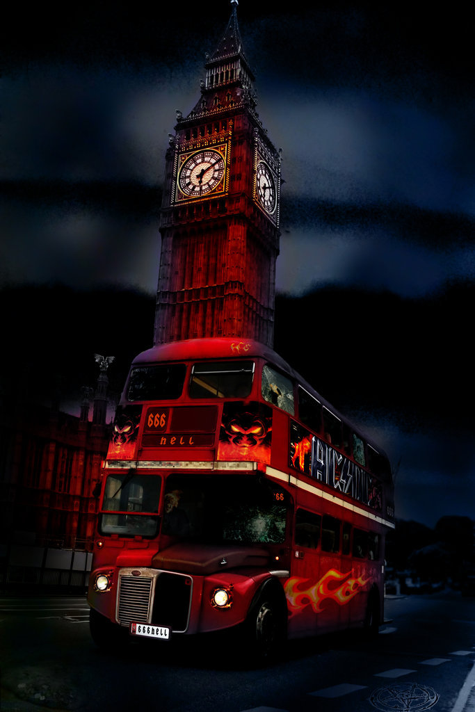 "Photo manipulation with the theme ""Highway to Hell"""