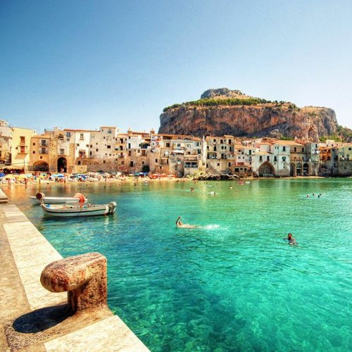 Turquoise, Cefalu, Italy photo via tommorris