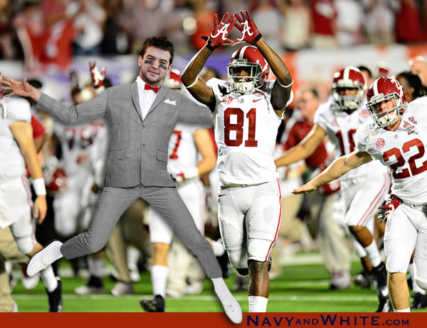 AJ McCarron heading out for the National Championship.