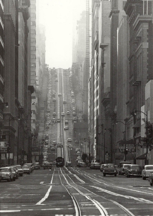 adanvc:  California Street, San Francisco, 1964. by Todd Walker