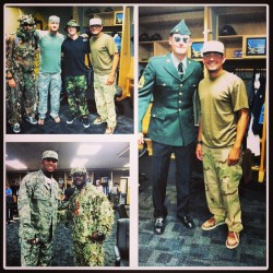 The guys are bringing a camo styled look to Baltimore. We just hope there are no penguins on the plane.. #raysbaseball #tampabayrays #welcomehome