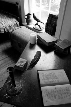 Edgar Allan Poe's dorm room (a part of it) at University of Virginia.
