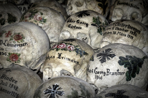 truehorrorshow:  okkvlt:  Ossuary in South Germany, Bavaria. (x)  I think that's beautiful