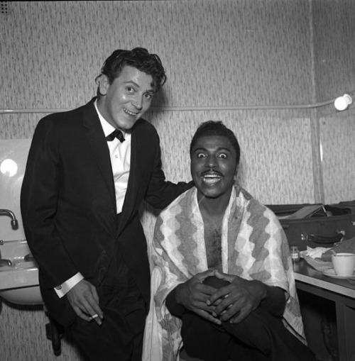 theniftyfifties:  Gene Vincent and Little Richard