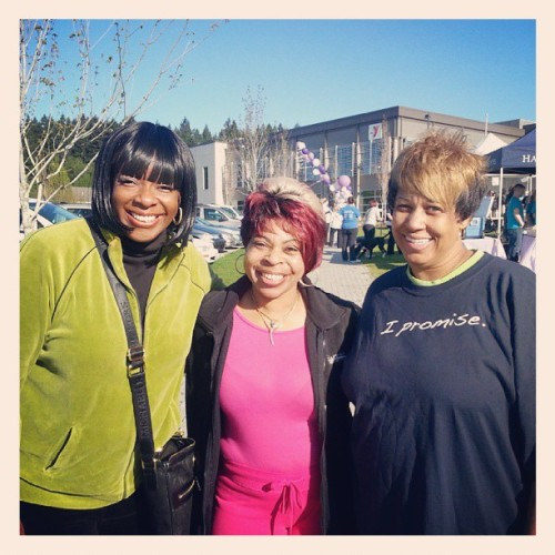 Hanging with my employees at the March of Dimes benefit Ms. Sherrita and Mrs. Gail