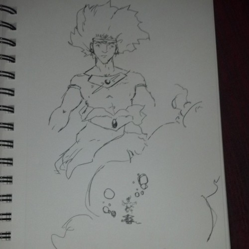 Weird Broly pen sketches. By the by if any anime character's explosions deserve kirby dots (or real ones, not my pathetic 2 am ones) its Broly.