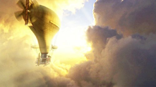 "The Airship from ""The Secret Adventures of Juiles Verne""."