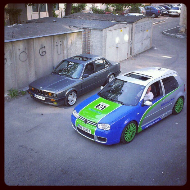 #e30 #BMW #vw #r32 #low #clean #brock #stance
