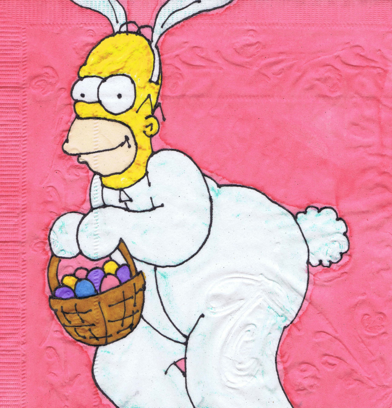Happy Easter! New holiday napkin art, 2013.