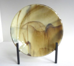 Fused Glass Rippled Bowl