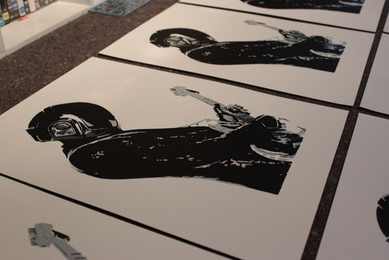 A few of the Guy-Manuel de Homem-Christo prints I did recently. Should be getting some frames tomorrow and some better photos.   http://www.flickr.com/photos/belakor/sets/72157633414197767/with/8734610784/