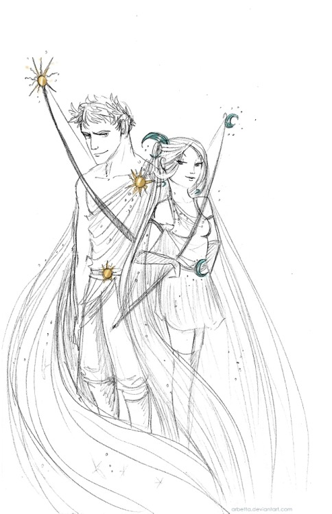 Artemis and Apollo are probably the greatest twin bros pair in Greek mythology… I wouldn't dare mess with them! (Pssst! Queen Niobe did, she said she had more and better sons and daughters than Leto, Apollo and Artemis' mum, so they went and kill all of them, that's some serious mommy love!)