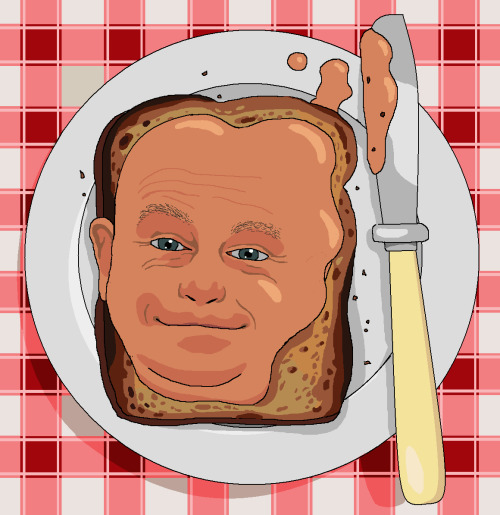 Dear Jim, Please paint me Ross Kemp on Toast. Cheers, Toby Da Moose Phillips
