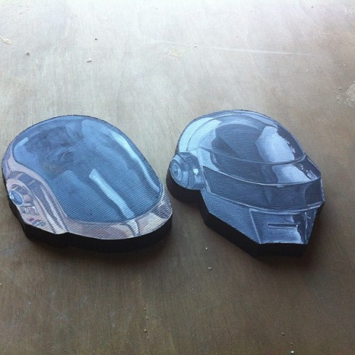 My heads for the #daftpunk show at @gauntletgallery