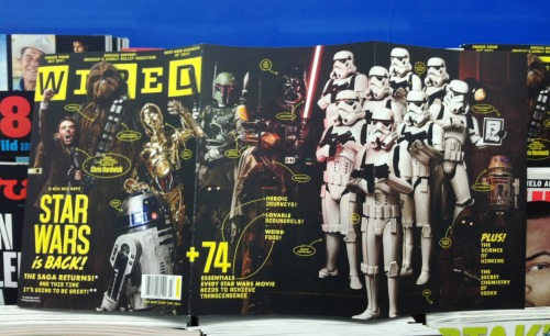 Boba Fett is featured in a fold out cover of the latest issue of Wired Magazine, which just hit new stands and retail stores.
