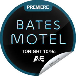 I just unlocked the Bates Motel Premiere sticker on GetGlue                      14124 others have also unlocked the Bates Motel Premiere sticker on GetGlue.com                  It's the story of a sweet boy and his loving mother. Check in to the Bates Motel tonight at 10/9c. Share this one proudly. It's from our friends at A&E.