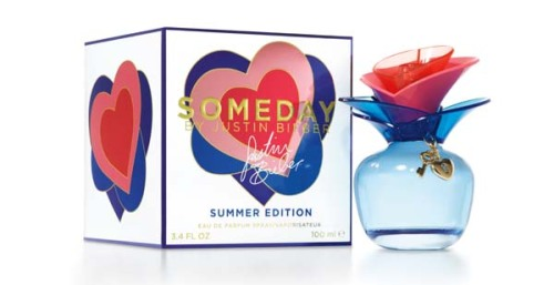 "bieber-news:  Elizabeth Arden has unveiled a Summer Edition of Justin Bieber's Someday fragrance, which is said to capture the carefree spirit of summer in a bottle, and is described as the perfect companion for playful days on the beach or flirty summer nights.  Said to be flirty and fun, the juice is a brighter version of the original Someday scent, according to the brand. It opens on top notes of mandarin zest, pear and magnolia blossom, building to a heart of strawberry and mimosa, atop a base that blends vanilla with sandalwood and musk.  The packaging is a revamped version of the original Someday presentation. The flacon this time is bright blue, with a colourful cap, adorned with gold charms.   ""Someday was the first fragrance I created for my fans, and this new Special Edition fragrance was also developed with them in mind."" ""I love everything about summer: the beach, warm weather and even swimming in the ocean, so I wanted to share that with my fans in a bright, blue bottle and a fragrance that reminds me of summertime. Whether it's music or fragrance, I always like to create something new and different just to remind them how amazing my fans are and what they mean to me.""  —  Justin Bieber  Someday Summer Edition is available as a 1fl oz and 3.4 fl oz edt, priced domestically at around US$35 and US$55, respectively.  Source: The Moodie Report"
