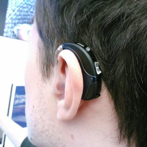 Boyfriend got new hearing aids :) #HearingAids #BoyFriend. #Awesome #Excited