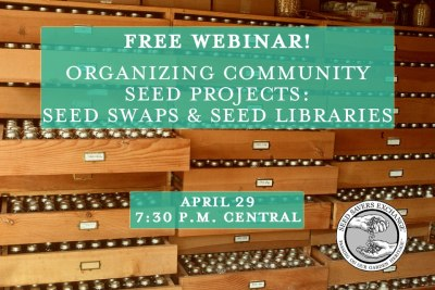 fuckyeahpermaculture:  Free Webinar from Seed Saver's Exchange Organizing Community Seed Projects: Seed Swaps & Seed Libraries April 29, 2013 7:30 p.m., Central TimeCommunity seed projects can help build community and facilitate knowledge and seed sharing. If you're interested in starting a seed library, hosting a seed swap, or starting a community seed saving group, this webinar should help you get started and point you toward valuable resources to ensure your project's success.  Click here to register.