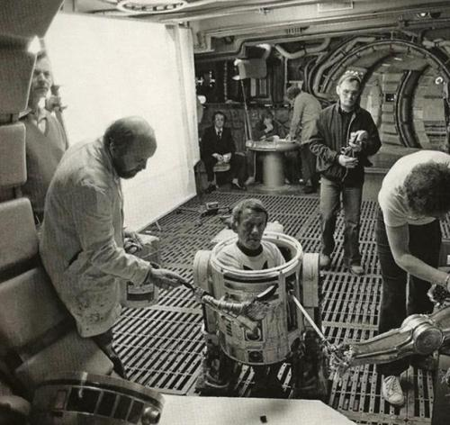 On set: Empire Strikes Back