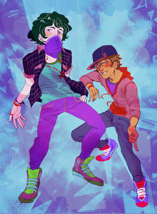 zebeck:  streetstuck gamzee and karkat commission for razzda! thank you!