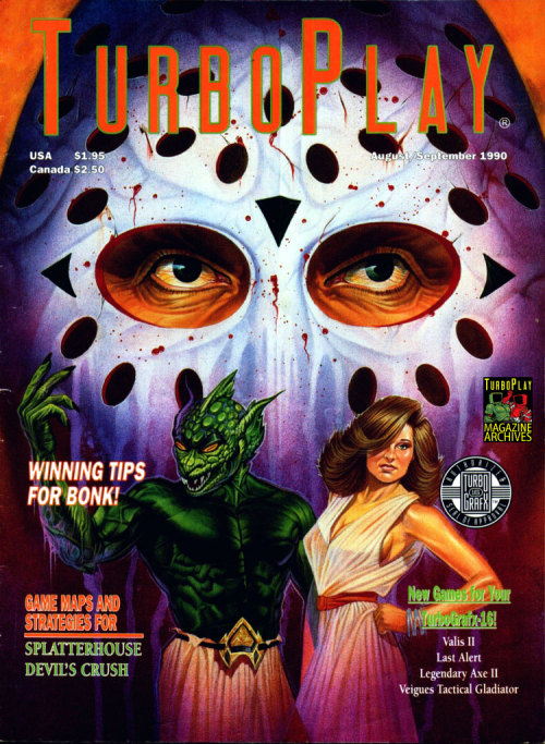 Turboplay magazine Splatterhouse cover.