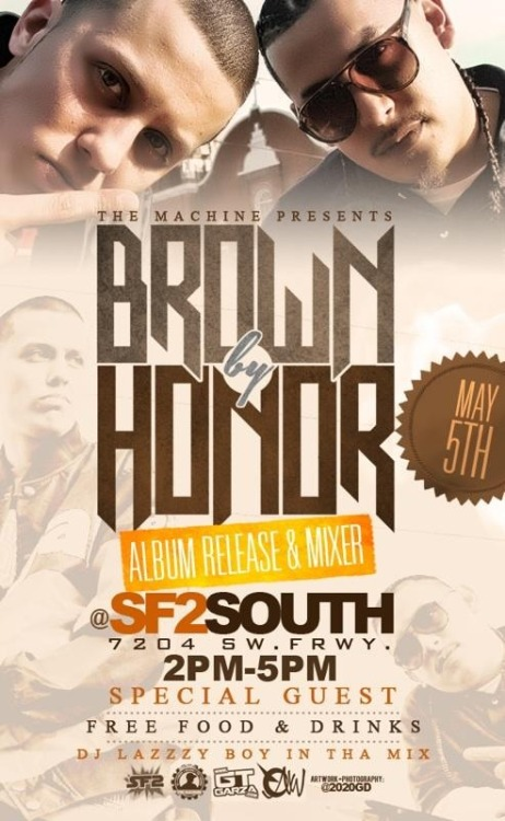 Come kick it with @itzGARZA on May 5th for the Brown By Honor mixer at @iLoveSF2