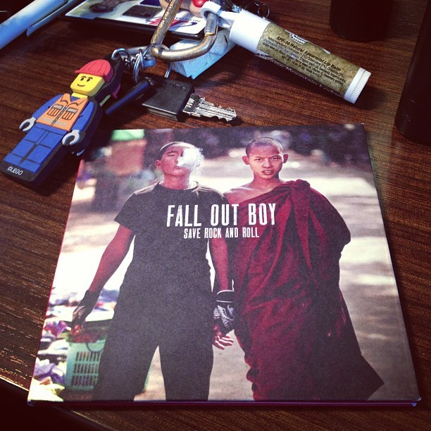 I always buy Fall Out Boy in hard copy #noguiltjustpleasure #nowplaying