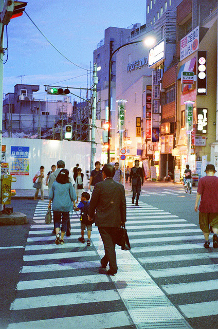 ileftmyheartintokyo:  Nikon F100,Kichijoji by Daniel Shi on Flickr.  I want to embrace this atmosphere