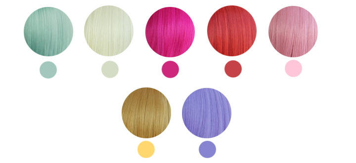 ichigoflavor:  Made this hair color chart so you guys can have an idea onto what color you want to dye your hair :3 I'll update this chart as soon as I find other colors :D